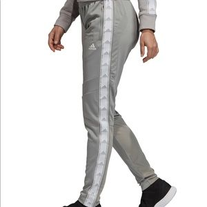Adidas Grey & White Soccer Sweatpants. NEW S